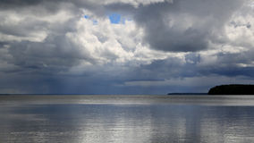 Storm Over A Lake Royalty Free Stock Image