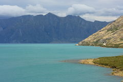 Storm over lake Hawea Stock Image