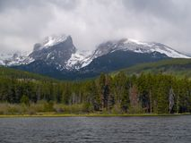 Storm Over Lake and Peak Royalty Free Stock Photo