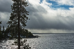 Storm over Lake Tahoe Royalty Free Stock Photography