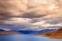 Storm over lake Tso Moriri Stock Image