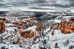 Storm Over the Land of Hoodoos Stock Images