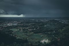 Storm over the low land royalty free stock photography