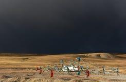 Storm over Manasarovar Lake Tibet Royalty Free Stock Photography