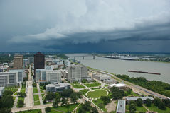 Storm over Mississippi River Stock Image