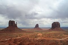 Storm over Monument Valley royalty free stock photos