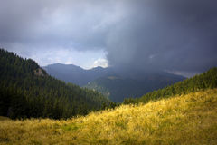 Storm Over The Mountain Stock Photography