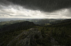 Storm over mountain landscape Royalty Free Stock Image