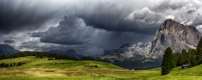 Storm over the mountains Stock Photos