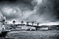 Storm over Mykonos Stock Photography