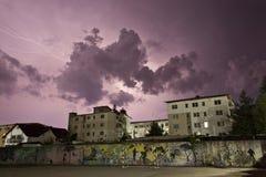 Storm Over Neighborhood Stock Photos