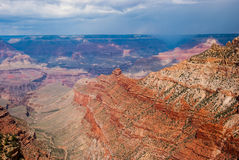 Storm over the North Rim of the Grand Canyon. Photograph of the North Rim of the Grand Canyon with a storm fast approaching Royalty Free Stock Photos