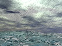 Storm over ocean - 3D render Stock Photography