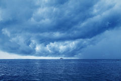 Storm over the ocean, Thailand Stock Photos