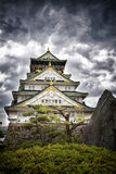 Storm over Osaka Castle Royalty Free Stock Photography