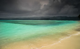 Storm over paradise Royalty Free Stock Photos