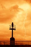 Storm over the pier Royalty Free Stock Photo