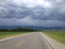 The storm. A storm over the Rockies mountains in USA Stock Photo