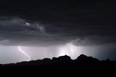 Storm over Saddleback Mountain Arizona Royalty Free Stock Images