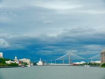 Storm over Savannah royalty free stock images