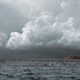 Storm over the sea Royalty Free Stock Image