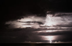 Storm over sea. A huge tropical storm in Asia Royalty Free Stock Photos
