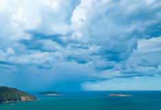 Storm over the sea Stock Photography