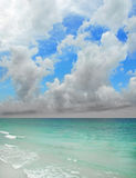 Storm Over Sea. Developing thunderstorm over beautiful blue ocean Royalty Free Stock Images