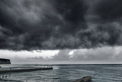 Storm over the sea Stock Image