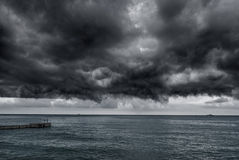 Storm over the sea Stock Images