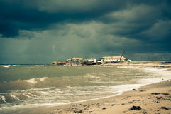 Storm over the sea. Crimea. Stock Photos