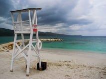 Storm over sea at Montego Bay, Jamaica. Beautiful dramatic sky with heavy rain royalty free stock image