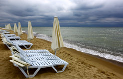 Storm over sea resort Royalty Free Stock Photography
