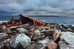 Storm over shipwreck at Sydney Stock Photos