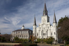 Storm over St Louis Cathedral Stock Image