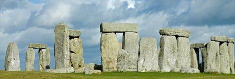 Storm over Stonehenge. Storm clouds gather over ancient Stonehenge, near Salisbury, England stock images