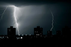 Storm over town Royalty Free Stock Photography