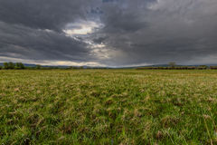 Storm over Wyoming. This photo was take of a storm over a Wyoming pasture Royalty Free Stock Photography