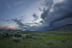 Storm over Yellowstone Stock Photo
