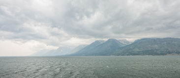 Storm Over Yellowstone Lake Royalty Free Stock Image