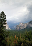Storm over the Yosemite Valley stock photography