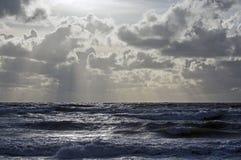 Storm på Östersjön fotografering för bildbyråer