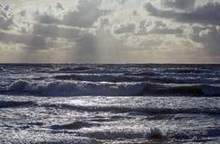 Storm på Östersjön arkivbild