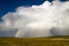 Storm på den östliga Prarien av Colorado Arkivfoton