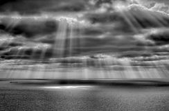 Storm på havet efter ett regn Royaltyfria Bilder