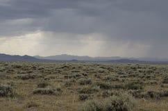 Storm på slättar Arkivfoto