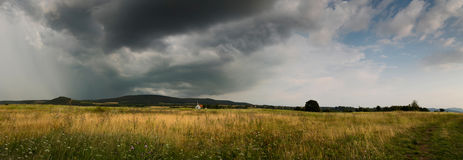 Before the storm,panorama photo Royalty Free Stock Photos