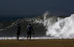 storm patrzy na fotografia stock