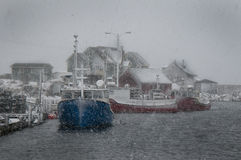 Storm at Peggy`s Cove Stock Images