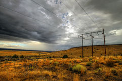Storm Power. Storm, Power, and Energy in the Desert Stock Images